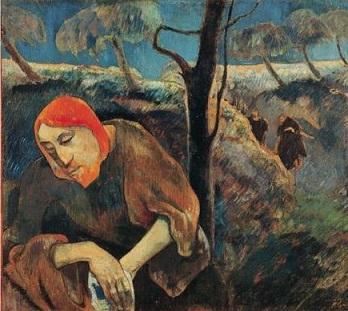 Gauguin-Paul_Christ-in-the Garden-Olives-Trees-1889