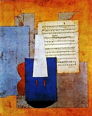 Picasso | Violín y partitura | 1912